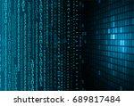 future technology  blue cyber... | Shutterstock .eps vector #689817484