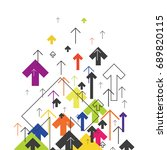 arrows up. colorful arrows on... | Shutterstock . vector #689820115