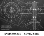 mechanical engineering drawings.... | Shutterstock .eps vector #689825581