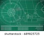 vector drawing. mechanical... | Shutterstock .eps vector #689825725
