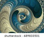 3d model generation of fractals ... | Shutterstock . vector #689833501