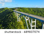 panorama of the road to... | Shutterstock . vector #689837074