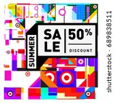 summer sale colorful style... | Shutterstock .eps vector #689838511