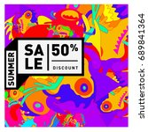 summer sale colorful style... | Shutterstock .eps vector #689841364