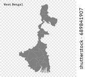 high quality map of west bengal ... | Shutterstock .eps vector #689841907