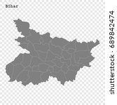 high quality map of bihar is a... | Shutterstock .eps vector #689842474