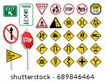 traffic signs | Shutterstock .eps vector #689846464