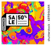 summer sale colorful style... | Shutterstock .eps vector #689846644