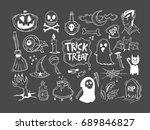 halloween set  collection  | Shutterstock .eps vector #689846827