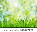 green nature background with... | Shutterstock . vector #689847799