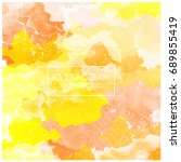 abstract watercolor on white... | Shutterstock .eps vector #689855419