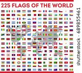 flags all over the world vector ... | Shutterstock .eps vector #689855461