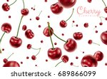 falling cherries elements ... | Shutterstock .eps vector #689866099