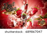 premium fruit beer with... | Shutterstock .eps vector #689867047