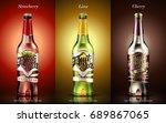 fruit beer package design ... | Shutterstock .eps vector #689867065