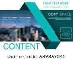 presentation layout design... | Shutterstock .eps vector #689869045