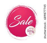 sale banner template design ... | Shutterstock .eps vector #689877745