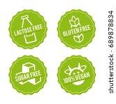 set of allergen free badges....