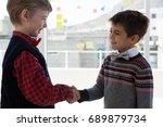 kids as business executives... | Shutterstock . vector #689879734
