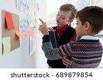 kids as business executives... | Shutterstock . vector #689879854