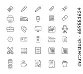 30 office tools icons | Shutterstock .eps vector #689881624