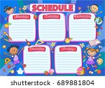 school timetable schedule ... | Shutterstock .eps vector #689881804