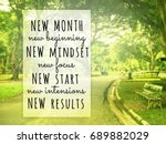 inspirational quote on blurred...   Shutterstock . vector #689882029