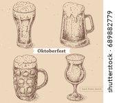 vector linear illustration of... | Shutterstock .eps vector #689882779