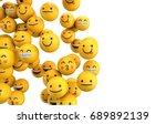 emoji emoticon character... | Shutterstock . vector #689892139