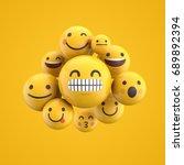 emoji emoticon character... | Shutterstock . vector #689892394