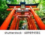 kyoto  japan at fushimi inari... | Shutterstock . vector #689894581