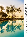 Silhouette Coconut Palm Tree...