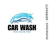 blue car wash logo | Shutterstock .eps vector #689896375