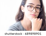 close up of serious teenage...   Shutterstock . vector #689898901