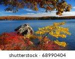 Autumn Mountain With Lake View...