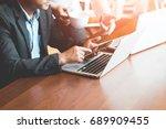 businessmen work and consult   Shutterstock . vector #689909455