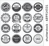 retro vintage design quality... | Shutterstock .eps vector #689914531