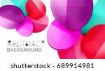 modern geometric presentation... | Shutterstock .eps vector #689914981
