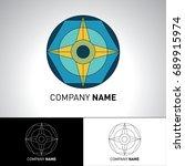 compass trendy logo template.... | Shutterstock .eps vector #689915974