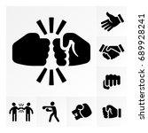 vector illustration icon set of ... | Shutterstock .eps vector #689928241