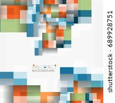 abstract blocks template design ...   Shutterstock . vector #689928751