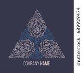 islamic floral pattern  in... | Shutterstock .eps vector #689929474