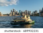 generic modern cityscape with... | Shutterstock . vector #689932231