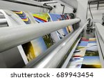 printing machine fast roll... | Shutterstock . vector #689943454
