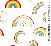 seamless pattern with different ... | Shutterstock .eps vector #689944789