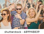group of people dancing at... | Shutterstock . vector #689948839
