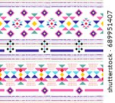 boho chic seamless pattern with ...   Shutterstock .eps vector #689951407