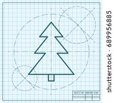 vector christmas icon. new year ...   Shutterstock .eps vector #689956885