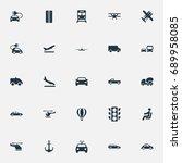 vector illustration set of... | Shutterstock .eps vector #689958085