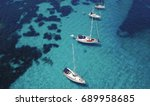 aerial photograph of sailing... | Shutterstock . vector #689958685